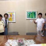 小田原短期大学学長室に絵画リースを採用していただきました